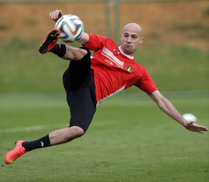 Защитник с впечатляващ гол на тренировка на Белгия (видео)