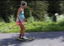 Френска биатлонистка тренира бременна (снимки + видео)