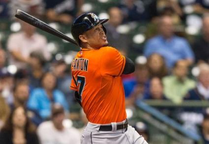 Стантън изравни клубен рекорд на Маями с 37-ия си хоумрън за 2014 г. (видео)