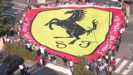 Феновете на Ферари благодариха на президента си (Видео)