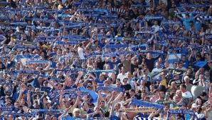 """""""От скрина"""": Стадион се пръска за единственото Вечно дерби извън София, столични ултраси вилнеят в провинцията"""
