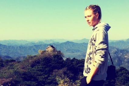 Шарапова и Великата китайска стена (снимки)