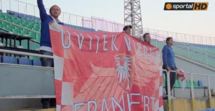 Хърватски фенове подкрепиха тима по време на тренировката (видео + галерия)