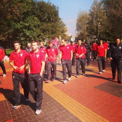 Хърватите на разходка в парка