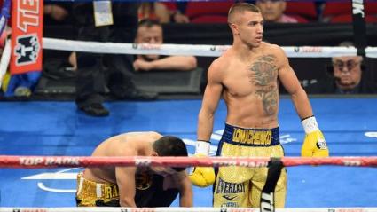 Ломаченко се контузи, но спечели
