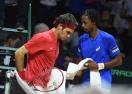 Монфис върна Франция в играта след бой над Федерер
