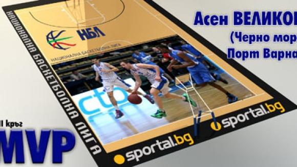 Асен Великов - MVP на VII кръг на НБЛ