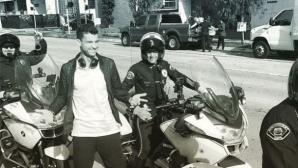 Полиция ескортира Григор Димитров в Лос Анджелис