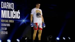 Миличич издържа два рунда в първия си бой