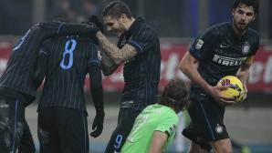 """Паласио спаси Интер срещу Лацио, но Манчини остава без победа на """"Сан Сиро"""" (видео + галерия)"""