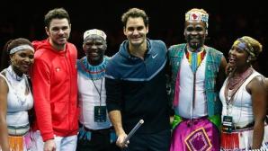 Федерер и Вавринка събраха 1,3 млн. швейцарски франка за децата на Африка (видео)