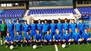 Юношите на Черноморец получиха новите си екипи