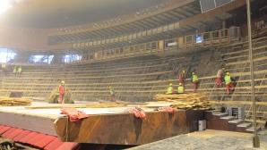"""Реконструкцията на зала """"Конгресна"""" ще приключи по график (видео)"""