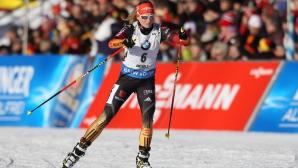 Женската щафета на Германия спечели състезанието на 4 по 6 км от СК по биатлон