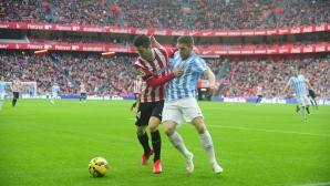 Атлетик Билбао и Малага пак не се надвиха