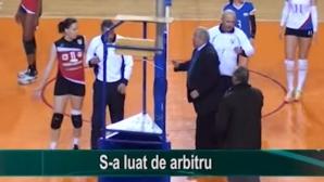 Екшън в Румъния! Клубен шеф свали съдията от стола (ВИДЕО)