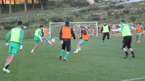 Лудогорец тренира на две групи в Испания, гол след гол на днешното занимание