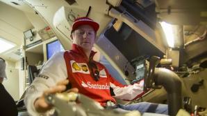 Райконен в новия болид на Ферари (Видео)