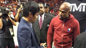 Флойд и Пакяо се срещнаха... на НБА мач (ВИДЕО + ГАЛЕРИЯ)