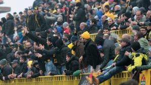 Скандал между фенове на Ботев (Пд) и футболист на тима (видео)
