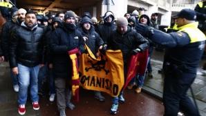 Над 40 задържани заради инциденти около Фейенорд - Рома