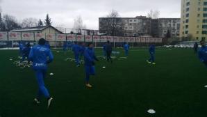 Левскарите тренират в пълен състав преди мача с Лудогорец