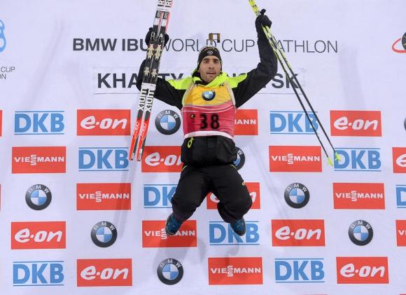 Мартен Фуркад спечели малката СК в спринта с победа в Ханти-Мансийск, Анев - 20-и (СНИМКИ)