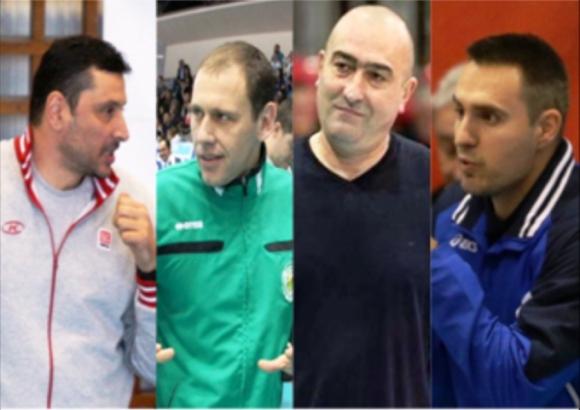 Четиримата треньори преди полуфиналните битки в Суперлигата