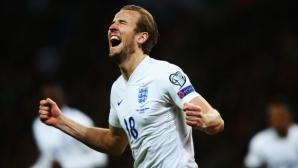 Англия мачка, невероятният Кейн вкара с първото си докосване (видео)