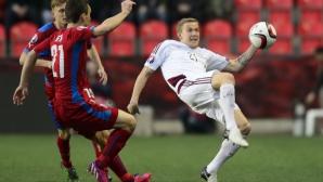 Пилар спаси Чехия от резил срещу Латвия
