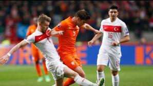 Мъките в оранжево продължават, щастлив рикошет спаси холандците (галерия)