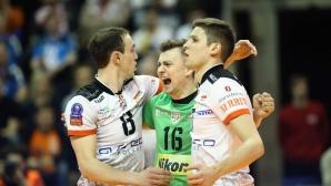 Български финал в ШЛ! Ники Пенчев и Ресовия сразиха СКРА с 3:0 (ГАЛЕРИЯ)
