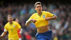 """Бразилия срази Чили на """"Емиратс"""", Неймар пострада от """"приятелска"""" проява на Медел (видео + снимки)"""