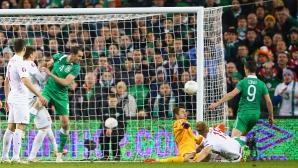 Гол в 91-ата минута спаси Ейре срещу Полша