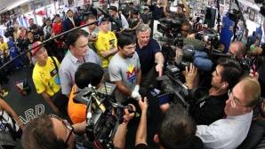 Журналисти едва не задушиха Пакяо