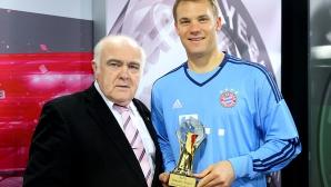 Мануел Нойер бе избран за Най-добър спортист в света