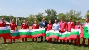 Министър Кралев окуражи националите по модерен петобой