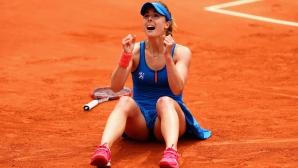 За първи път в кариерата си Корне е 1/8-финалистка пред родна публика