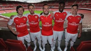 Арсенал представи новия екип с помпозна церемония и се прицели в титлата (снимки)