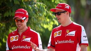 Фетел: Искам Райконен да остане във Ферари