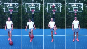 Бейл показва страхотни умения с баскетболна топка (видео)