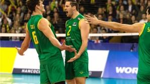 Австралия остана в елита на Световната лига след 3:2 над Сърбия