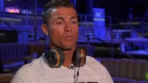 Кристиано Роналдо се ядоса, прекъсна интервю и си тръгна нацупен (видео)