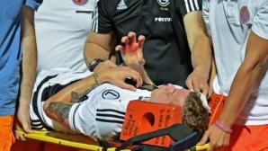 Жесток скандал в Албания, фенове окървавиха мач от Лига Европа (видео)