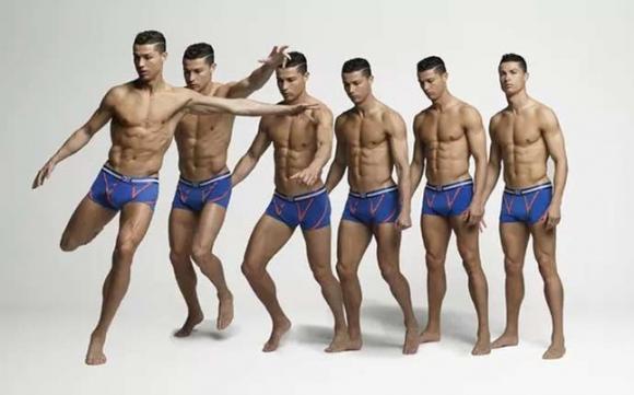 Кристиано показва мускули в нова реклама за бельо