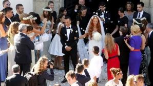 Звездната сватба на Мендеш - Кристиано му подари гръцки остров (галерия)