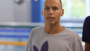Антъни Иванов е първа резерва за полуфиналите на 50 метра бътерфлай