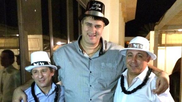 Чакат Стоичков, Любо Ганев и министър Кралев в Лас Вегас