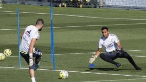 Навас говори с Бенитес и тренира с Реал Мадрид