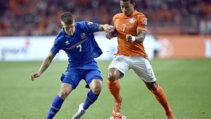 Пореден провал отдалечи Холандия от Евро 2016, Исландия не спира да блести (видео)